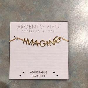 Argento vivo sterling silver bracelet.
